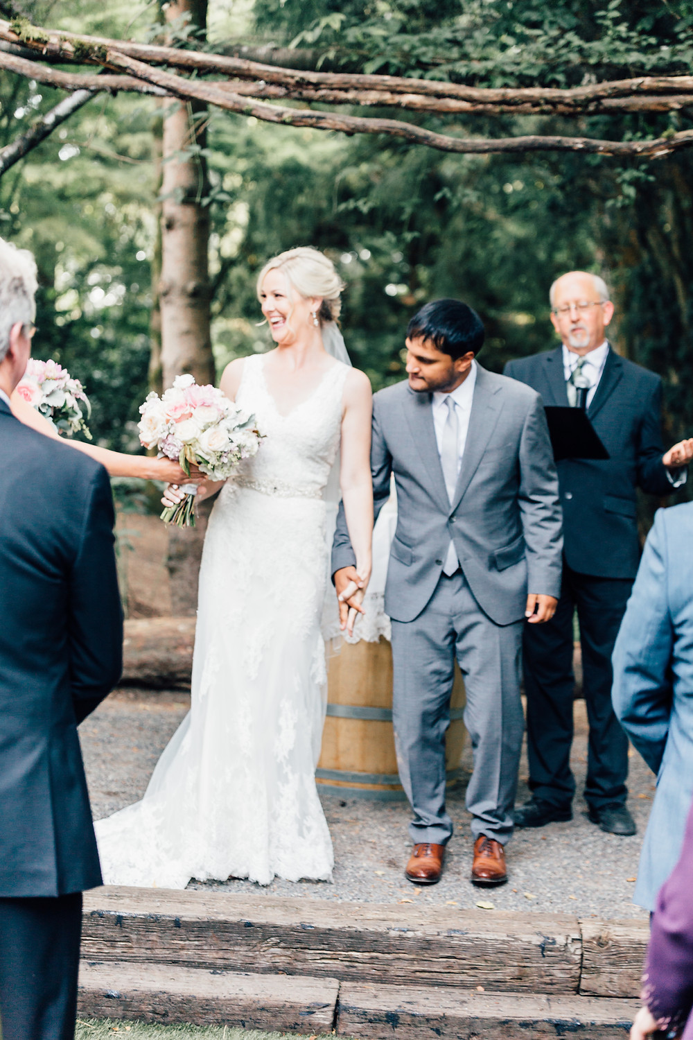 Ceremony JM Cellars Woodinville Winery Wedding