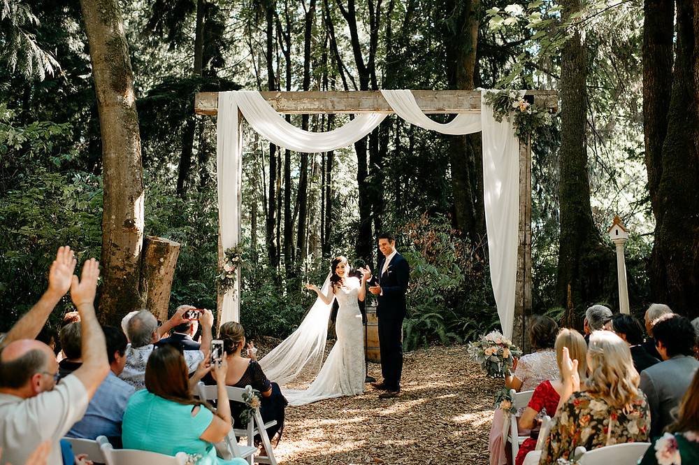 Twin Willow Gardens Snohomish, WA Wedding | Woods, forest, PNW Ceremony