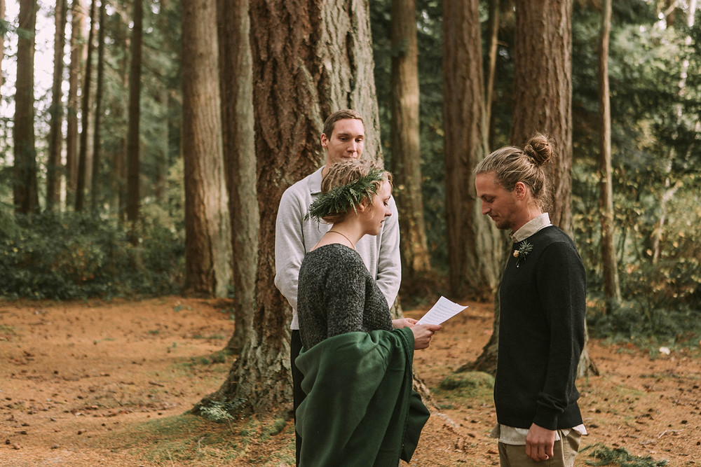Pacific Northwest Intimate Wedding in the Woods