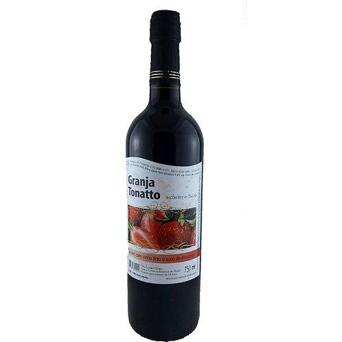 Cooler com Vinho Tinto e Morango