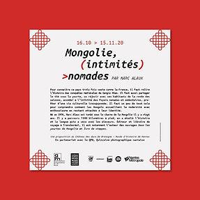 """Graphisme d'exposition, """"Mongolie, intimités nomades"""" de Marc Alaux, Château des Ducs de Bretagne"""