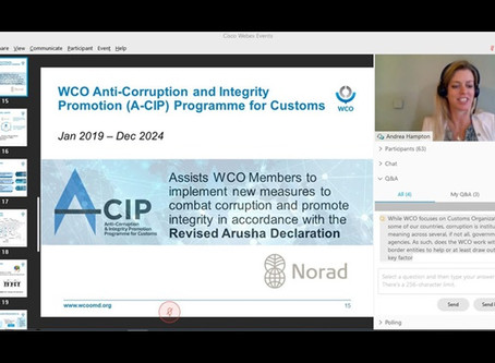 WCO and United States Conduct Integrity Webinar Series