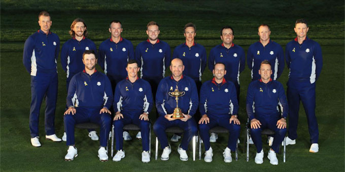 The whole team : Ryder Cup Europe