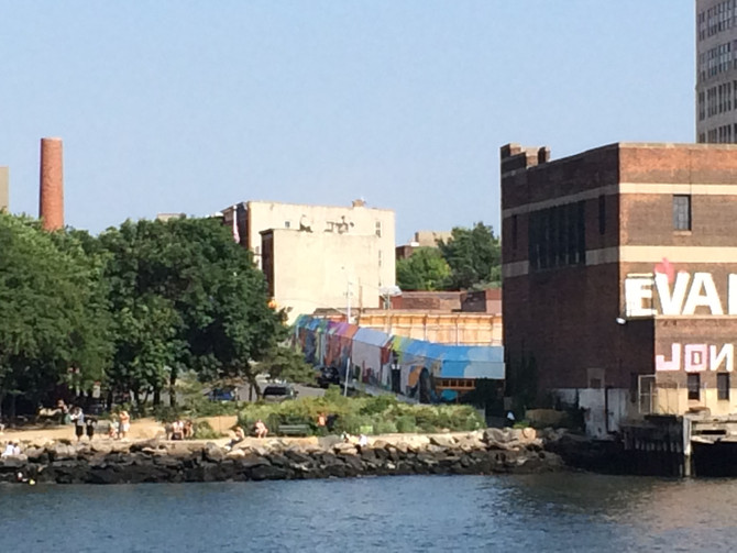 View of the Mural as seen from the East River!