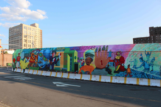 Photos of finished Mural: ¡Cultura Con Azucar!
