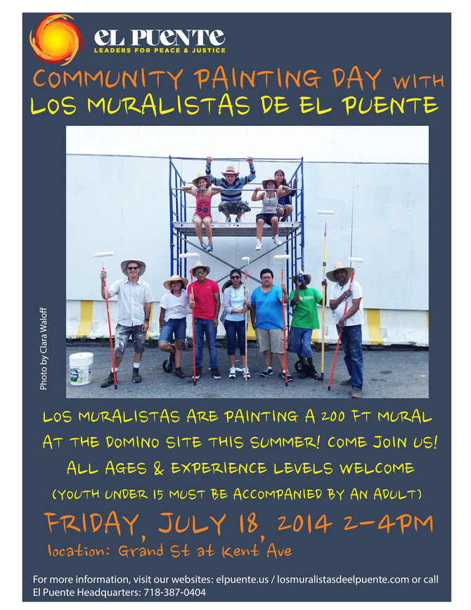 Los Muralistas host a Community Painting Day next Friday!