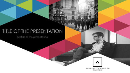 Presentation template to reflect the brand personality