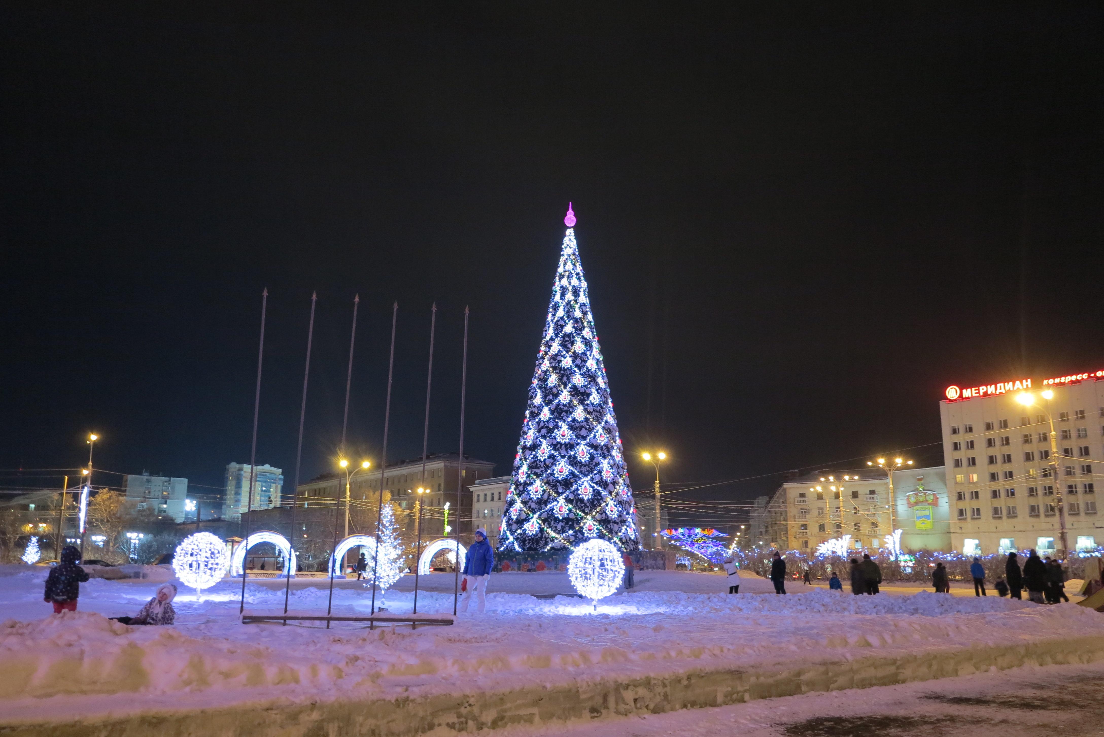 Под Новый Год в центре