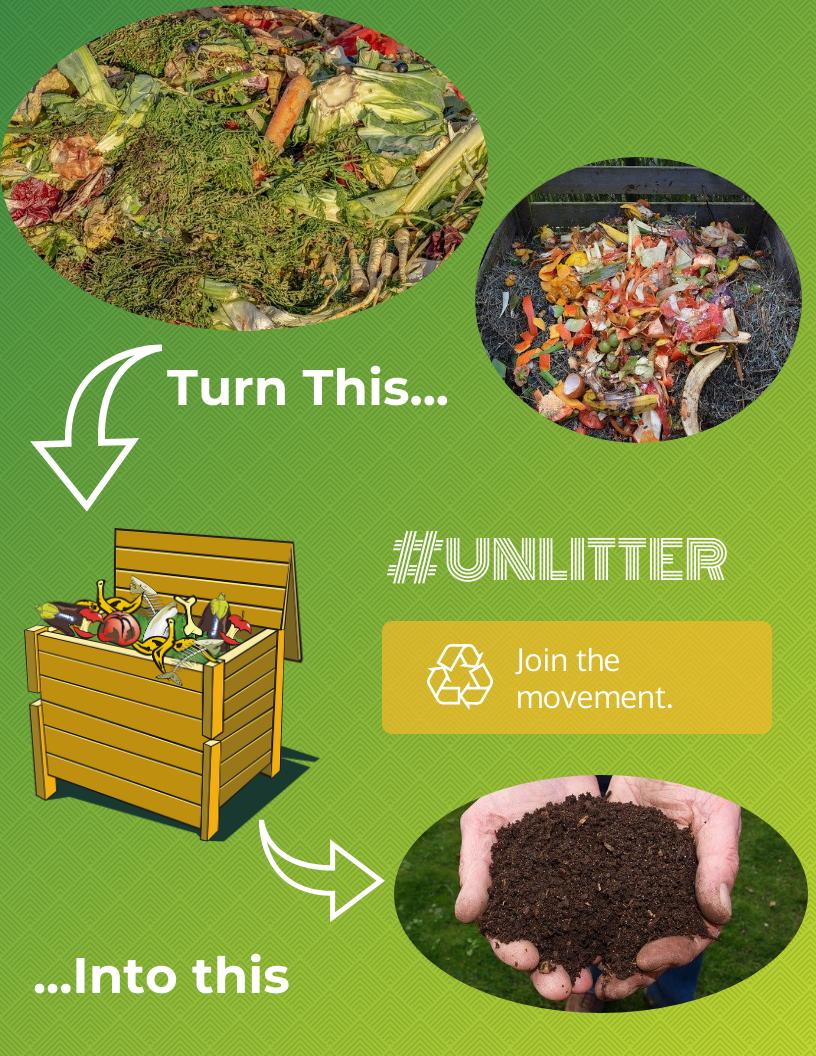 Image made using Venngage. #UNLITTER Organic Waste.