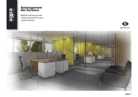 Perspectives projet d'architecture