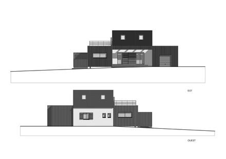 Coupe projet d'architecture