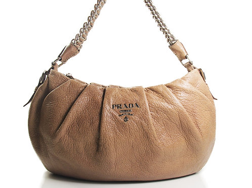 Prada Cervo Lux Chain Hobo Shoulder Bag in Mauve