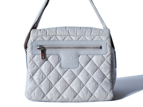 Chanel Coco Cocoon Messenger Bag in Grey Nylon
