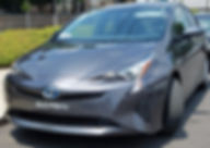 Toyota Prius Hybrid Rental Exterior with Uber Lyft decal