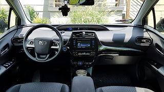 Toyota Prius Hybrid Rental Uber Lyft interior