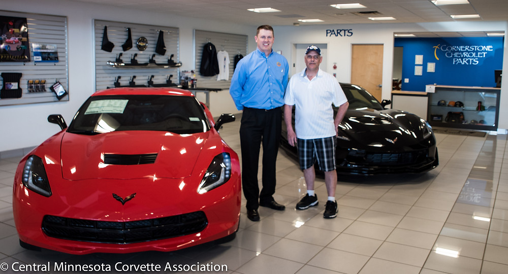 Cornerstone Auto GM Chris Berg with CMCA President David Peterson - photo thanks to Cornerstone Chevrolet