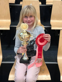 Emma got a 1st place
