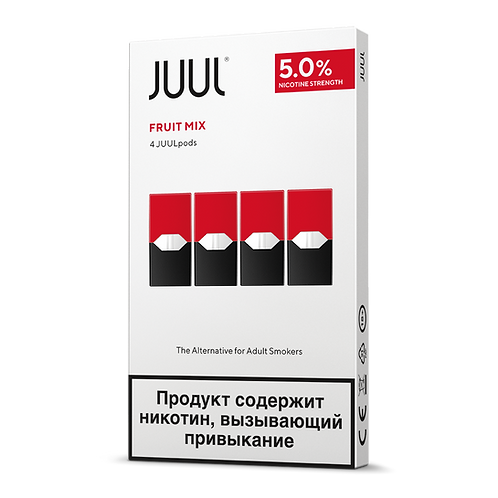 Поды для JUUL - Fruit Mix - упаковка из 4х картриджей