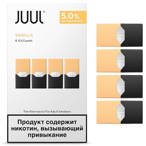 Поды для JUUL - Vanilla - упаковка из 4х картриджей