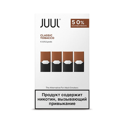 Поды для JUUL - Classic Tobacco - упаковка из 4х картриджей