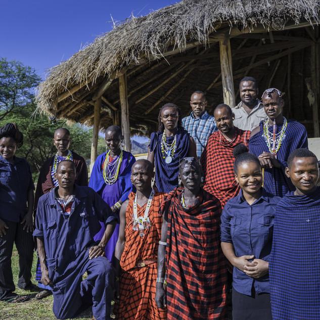 The team Massai Giraffe Eco Lodge