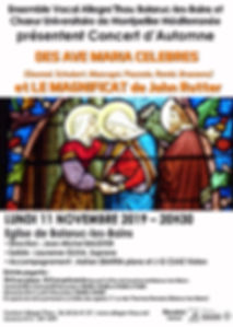 Affiche concert Allegre'Thau_11.11.2019.