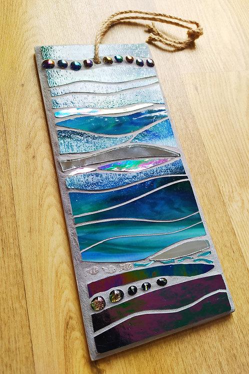 Teal Waters - Mosaic Art