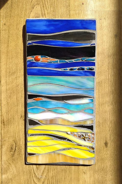 Sunset Beach - Mosaic Art