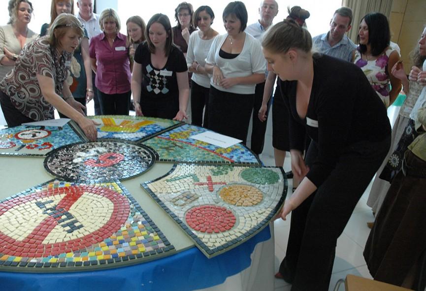 Mosaic teambuilding challenge