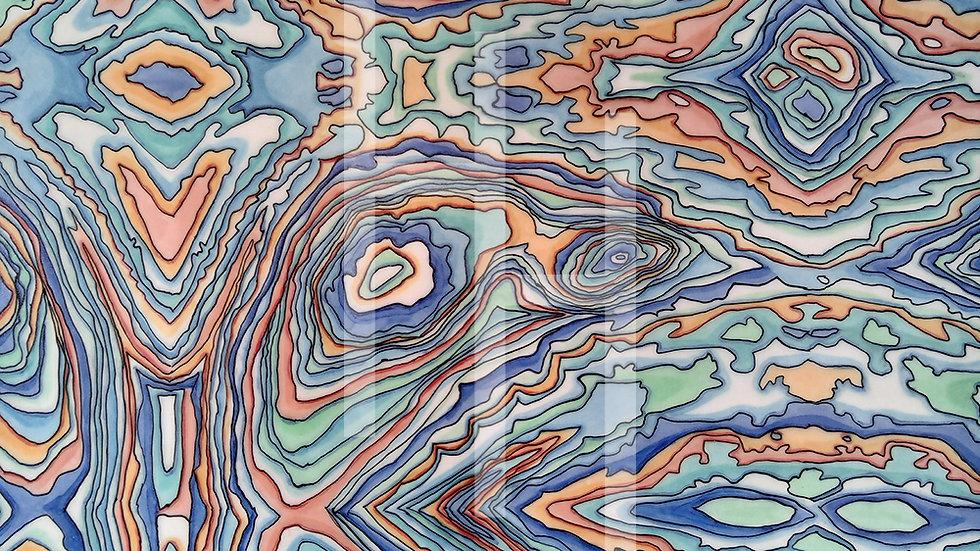 Coastal Blues Pen-y-ghent Print