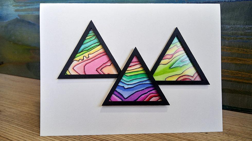 Rainbow up Pen-y-ghent Card