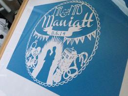 'Custom personalised Wedding/Anniversary papercut'