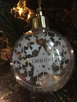 'Custom starry night christmas bauble'