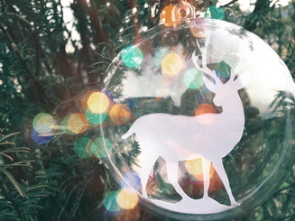 'Stag papercut christmas bauble'
