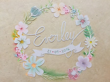 'Custom flower name papercut'