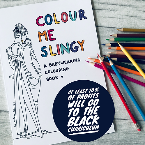 Colour me Slingy - Babywearing Colouring Book