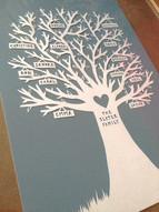'Standard papercut family tree'