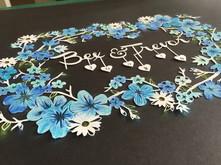 'Custom Wedding/Anniversary papercut'