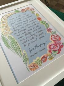 'Custom memorial papercut'