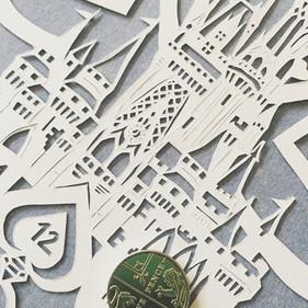'Custom personalised Disney engagement/wedding papercut'