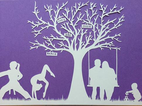 'Silhouette family tree