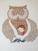 'Custom reading time owl'