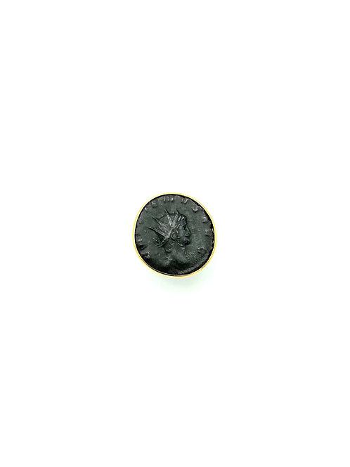 """Bague pièce de monnaie antique Romaine """"couronne radiée"""""""