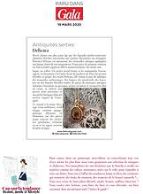 PARUTION GALA- MARS 2020- DELICATA- PARI