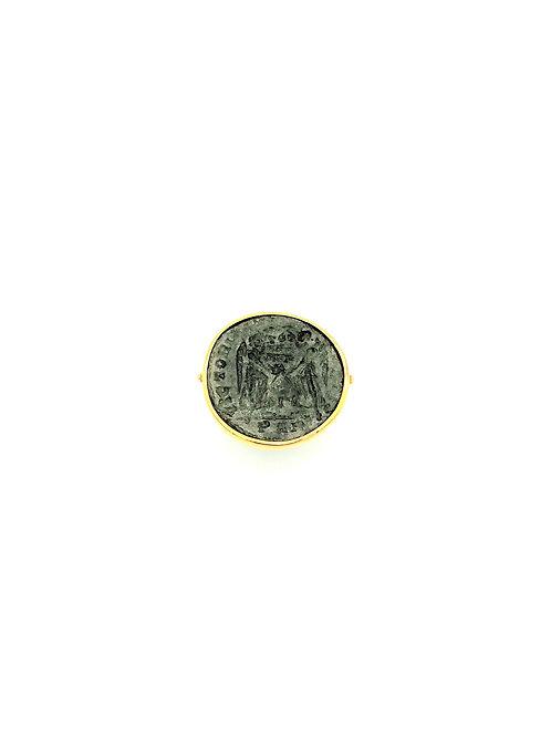 """Bague pièce de monnaie antique Romaine """"Victoires"""""""