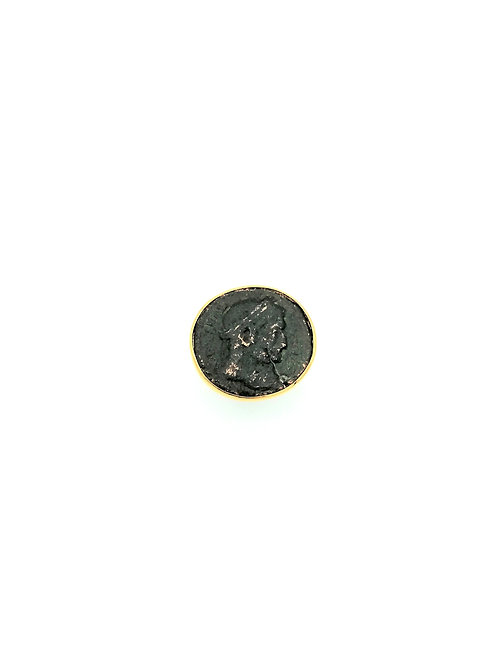 """Bague pièce de monnaie antique """"Fissure"""""""