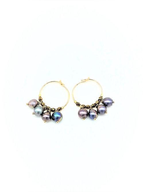"""Boucles d'oreilles mini créoles """"Hera G"""""""