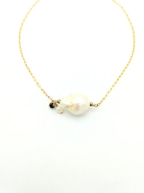 Collier ras de cou perle baroque I