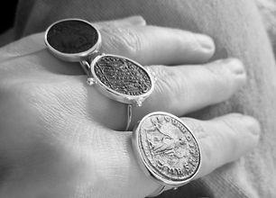 Bague pièce de monnaie antique-DELICATA-
