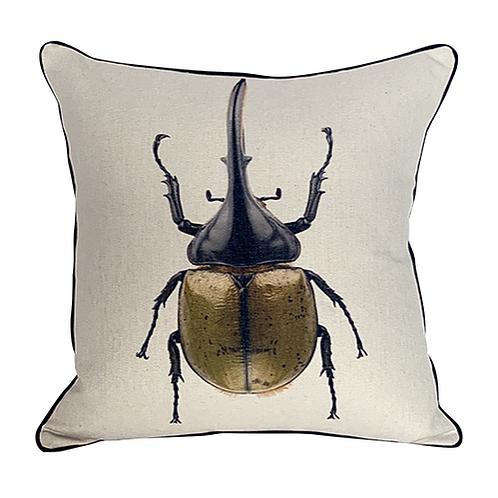 Cojín con Escarabajo hércules